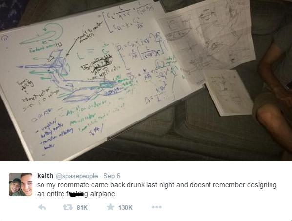 drunk student tweet